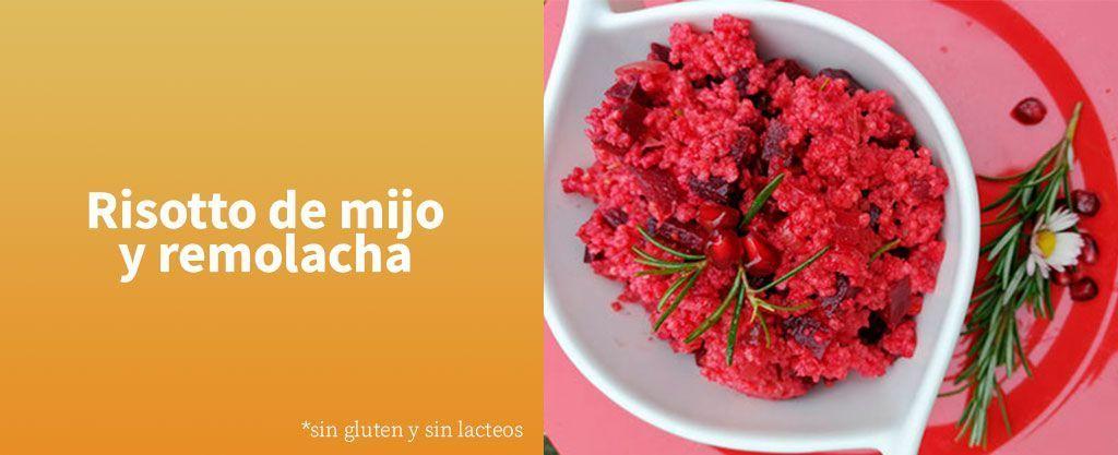 risotto de mijo y remolacha-receta